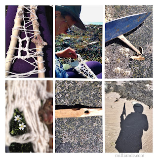 Weaving Tutorial - Weaving White Windows @ milliande.com, Natural Free Style Weaving with Natures Bounty , Carve you own Weaving Needle