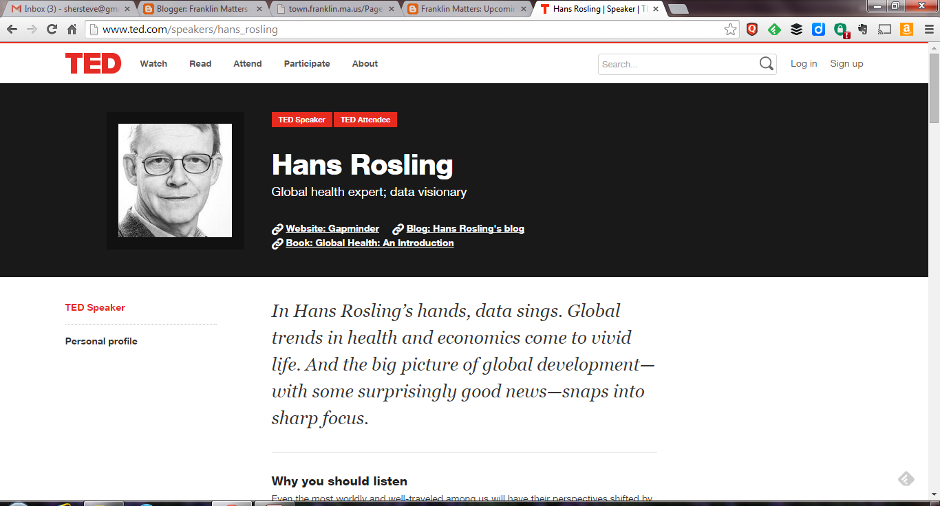 Hans Rosling - TED bio page