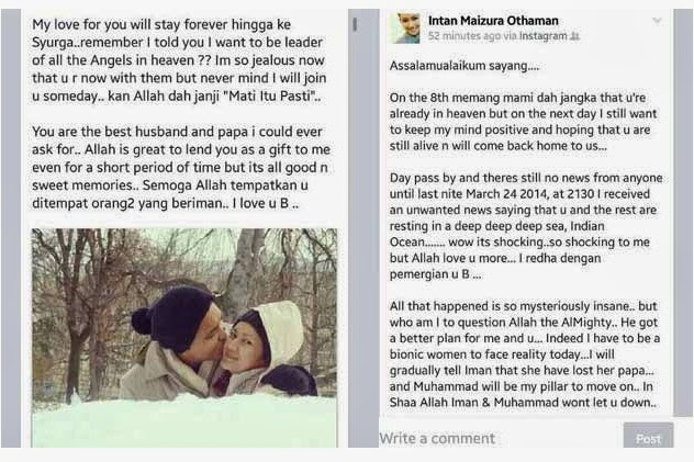 Kata-Kata Semangat Dari Pengguna FB Kepada Isteri Pramugara Hazrin Mohamed Hasnan