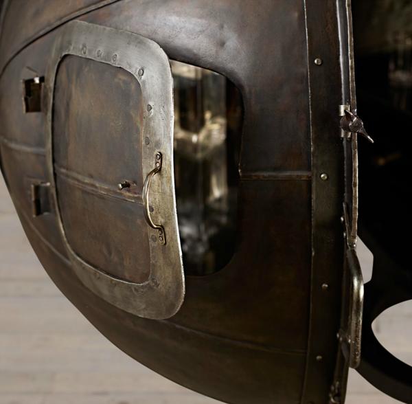 Restoration Hardware German Light Bulb Bar: 1920s Light Bulb Voltage Tester Bar