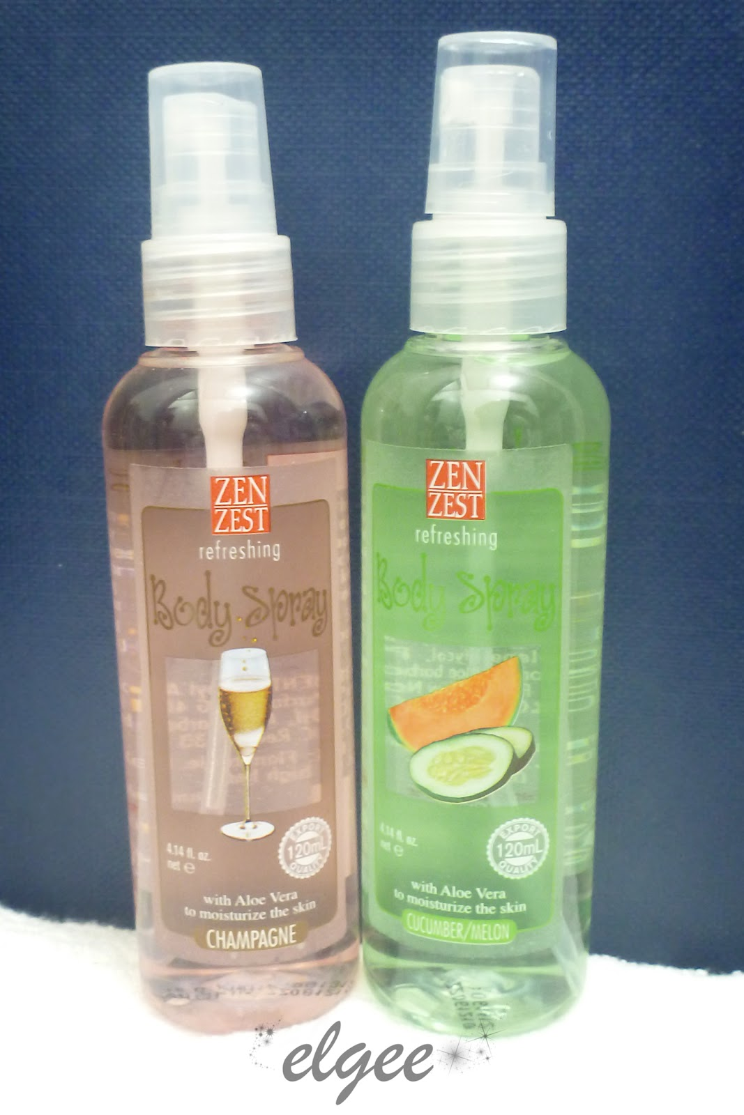 My Zenzest Body Spray Champagne Foam I Got Two Refreshing And Cucumber Melon Scents It For 2 P160 Approx 4 Not Bad A 120ml Bottle
