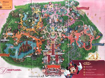 карта Диснейленд-парка