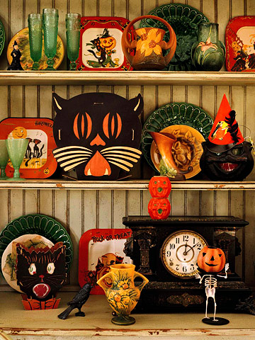 The Happy Holiday Girl: Vintage Halloween Decorating ...