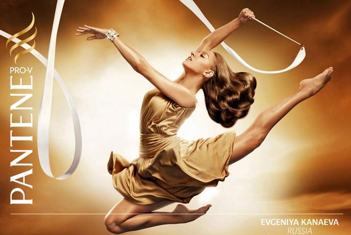 Evgeniya Kanaeva rhythmics london 2012 gold medalist at Pantene commercial