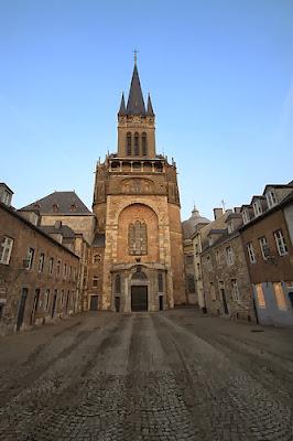 Imagen de la Catedral de Aquisgrán de tiempos de Carlomagno que aún se conserva.