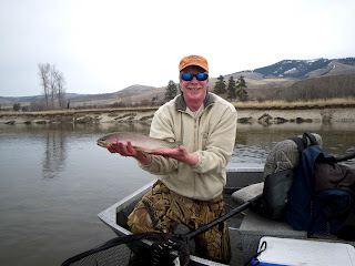 Jeff Rogers on the Bitterroot River in mid-March