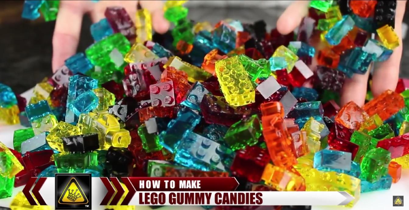 Как сделать конфеты форме лего