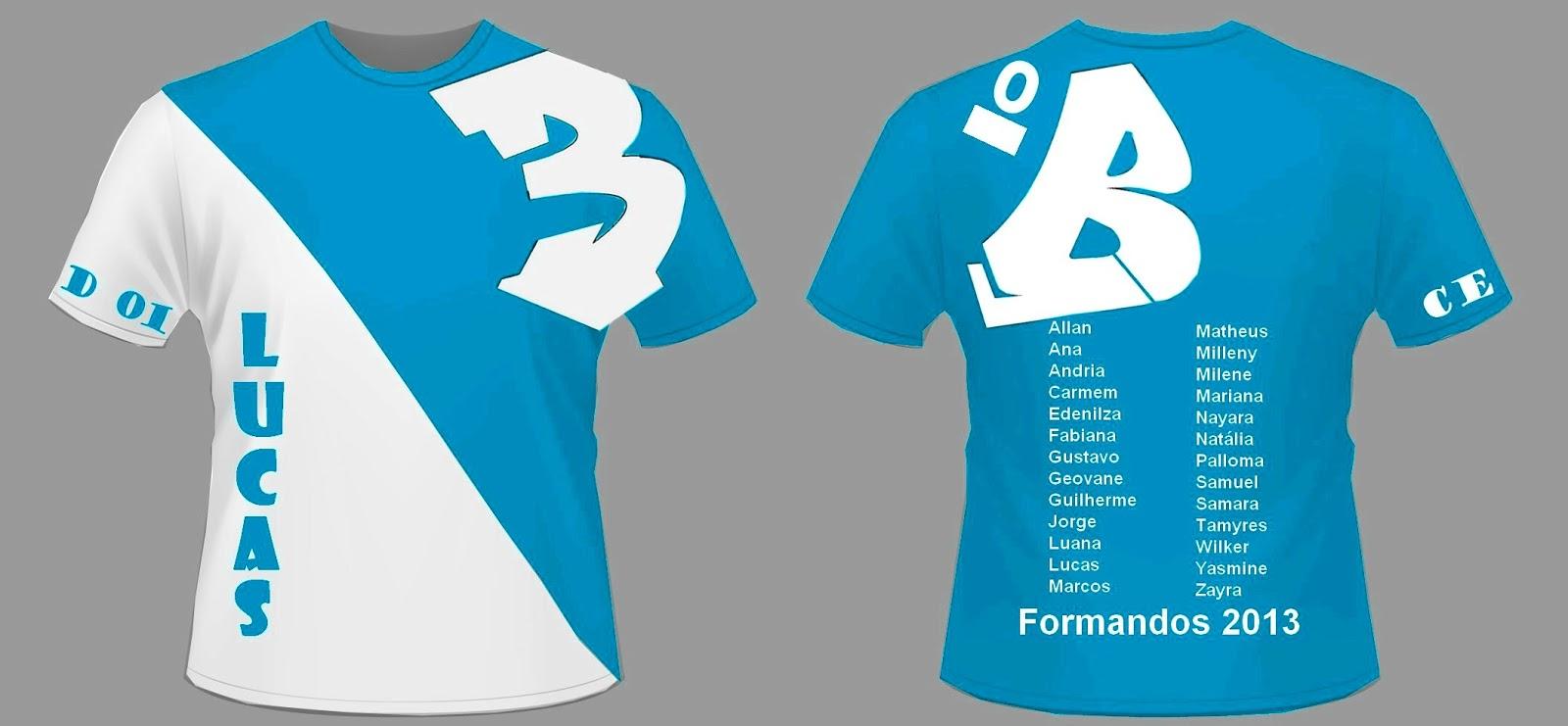 """Favoritos Terceiro """"B"""", 2013.: Camiseta Formandos 3º """"B"""". MO32"""