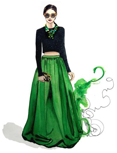 Fashion design model sketches 87