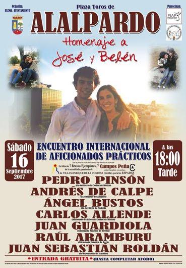ALALPARDO (MADRID) 16-09-2017 ENCUENTRO INTERNACIONAL DE AFICIONADOS PRÁTICOS . HOMENAJE A JOSÉ Y B