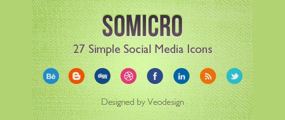 Somicro: 27 Free Simple Social Media Icons