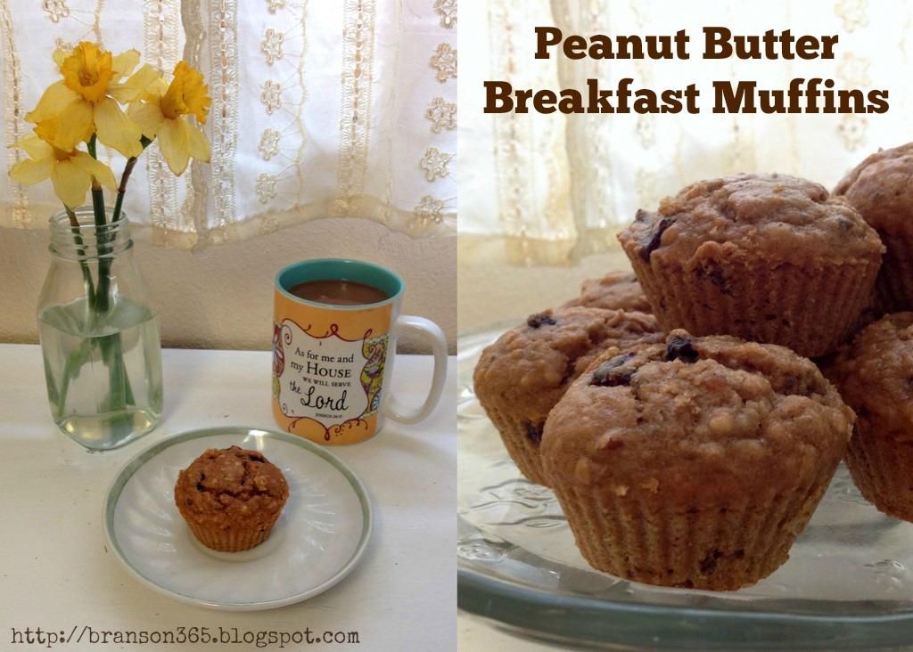 peanut butter breakfast muffins PBJ