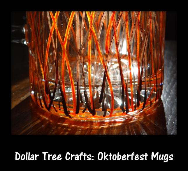 Dollar Tree Crafts: Paint Your Own Oktoberfest Beer Glass #Tutorial #DIY