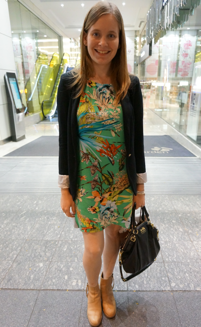 Coach Madison Sophia bag, Atmos&Here Willow Tee Dress Black Blazer