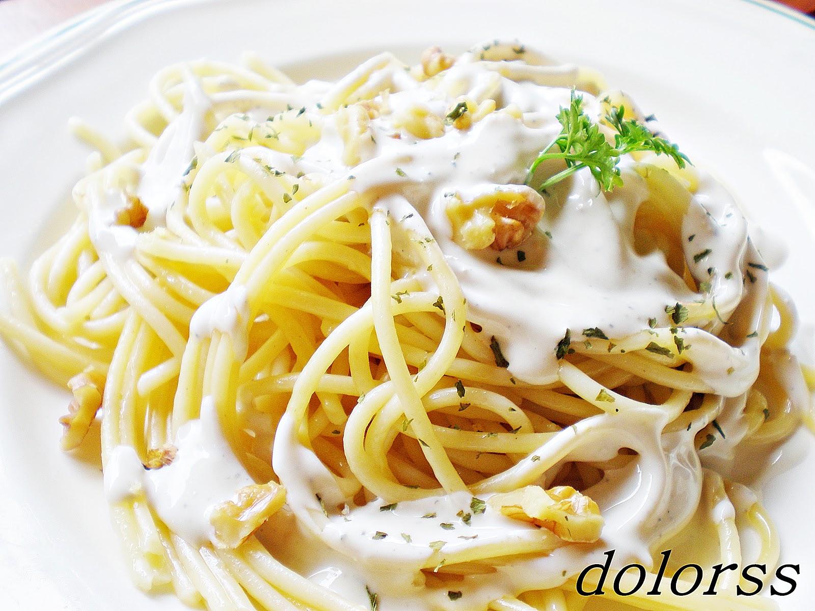 Blog de cuina de la dolorss espaguetis con salsa de cabrales for Plato de espaguetis
