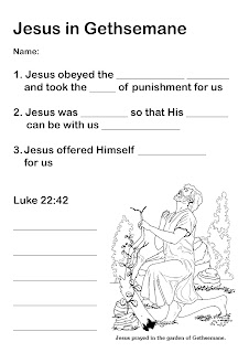Growing kids in grace jesus in the garden of gethsemane for Gardening tools word search