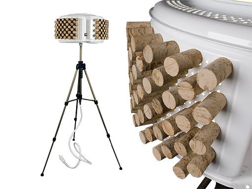 Ocells al terrat llums de peu fets amb tambors de - Lamparas originales recicladas ...