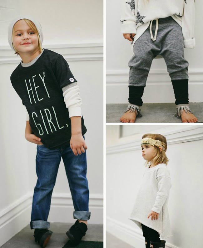 Cool unisex styles for kids by Kindred OAK AW14