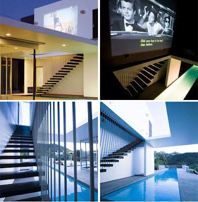 piscina en villa moderna