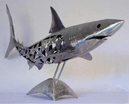 Metal fish sculptures the odd blogg for Metal fish art