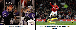 cristiano ronaldo vs hockey players