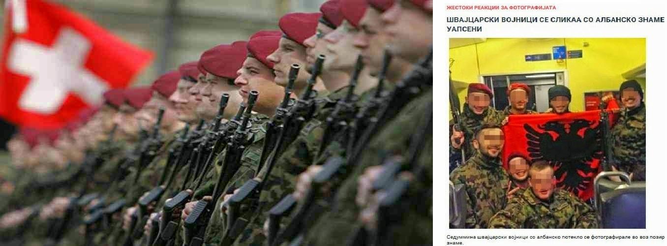 Μια φορά κατσαπλιάς πάντοτε κατσαπλιάς! Αλβανος, ελβετικής καταγωγής άνοιξαν την αλβανική σημαία μέσα σε ελβετική στρατιωτική μονάδα