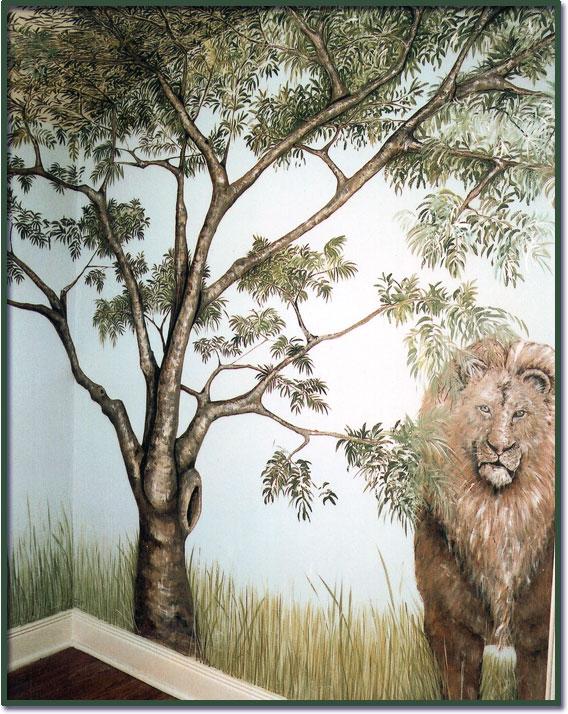 Animal mural wallpaper design for Animal mural wallpaper