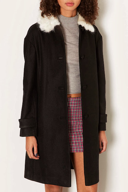 topshop fur collar coat