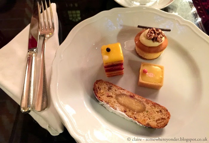 sweets at afternoon tea at Pera Palace Hotel, Istanbul