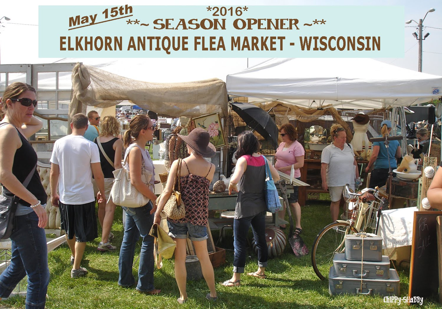 ELKHORN ANTIQUE FLEA MARKET - WISCONSIN