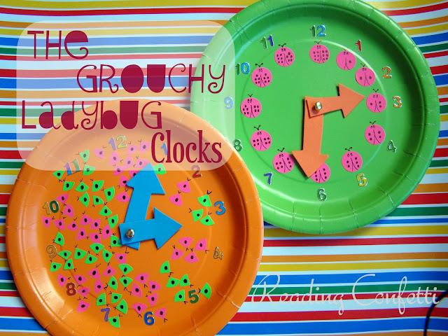 Grouchy Ladybug Clocks & Eric Carle Link Party ~ Reading ...