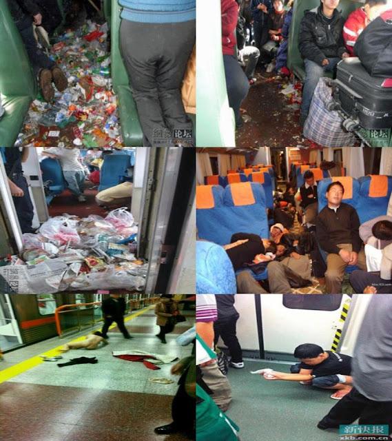 China's worst subway manners