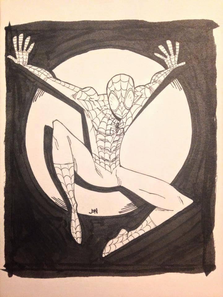 jonathan jon lankry 2D artist animation comic book animated spiderman spidey spider-man marvel original