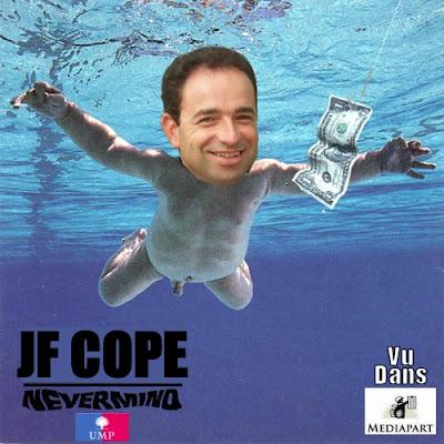Jean-François Copé parodie la pochette de Nevermind !