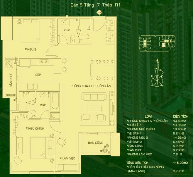 căn 8 lâu 7 tháp R1 everrich