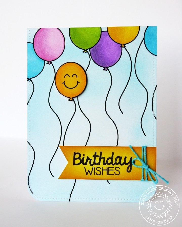 Sunny studio birthday smiles smiley face balloon birthday card birthday smiles smiley face balloon birthday card bookmarktalkfo Images