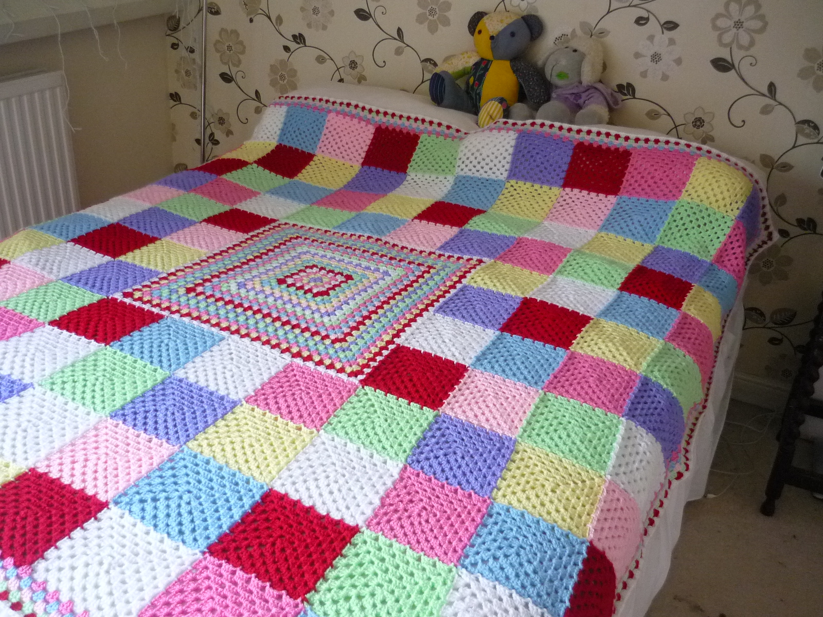 not just a blanket And that's it you've just completed your baby blanket the first one probably took you longer than 30 minutes, but once you have made it once, the second will go sooo much faster.