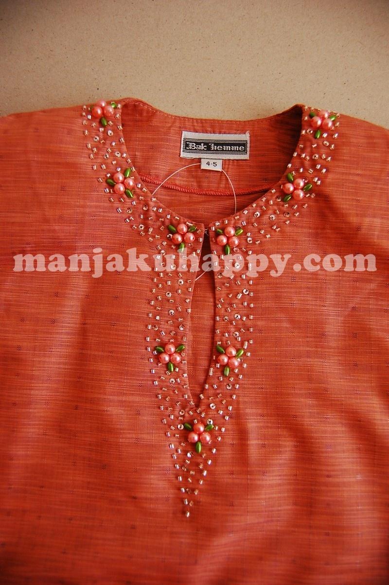 Exclusive Baju Kurung Klasik Pahang Dengan Jahitan Manik Leher Size
