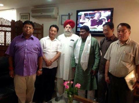 GTA Delegation led by Bimal Gurung SS Ahluwalia met Jual Oram Minister of Tribal Affairs