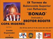 IX TORNEO DE BALONCESTO SUPERIOR CON REFUERZOS DE BONAO