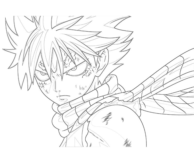 fairy tail coloring pages - fairy tail natsu look how coloring