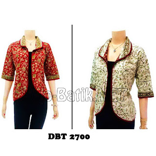 DBT2700 Model Baju Blouse Batik Modern Terbaru 2013