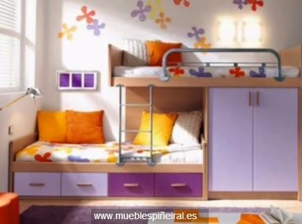 Dormitorios juveniles decoractual dise o y decoraci n - Dormitorios con literas juveniles ...