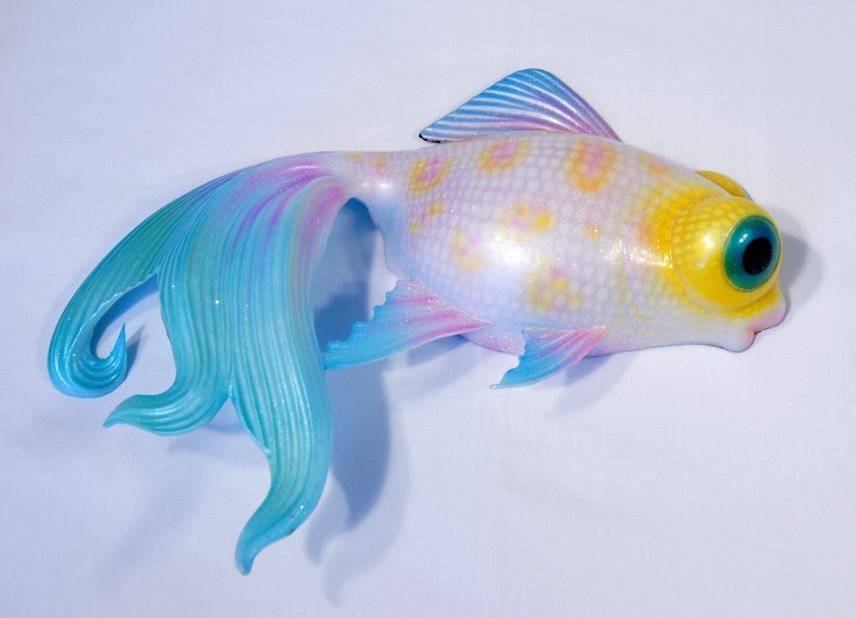 Misuzu 39 s fancy goldfish hand painted 12 goldfish for The fancy fish