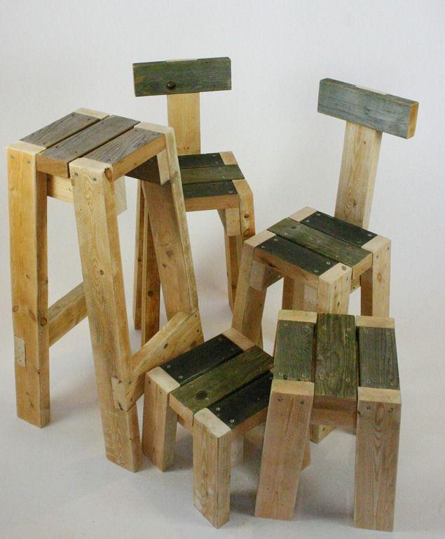 bancos e cadeiras Madeira reuso