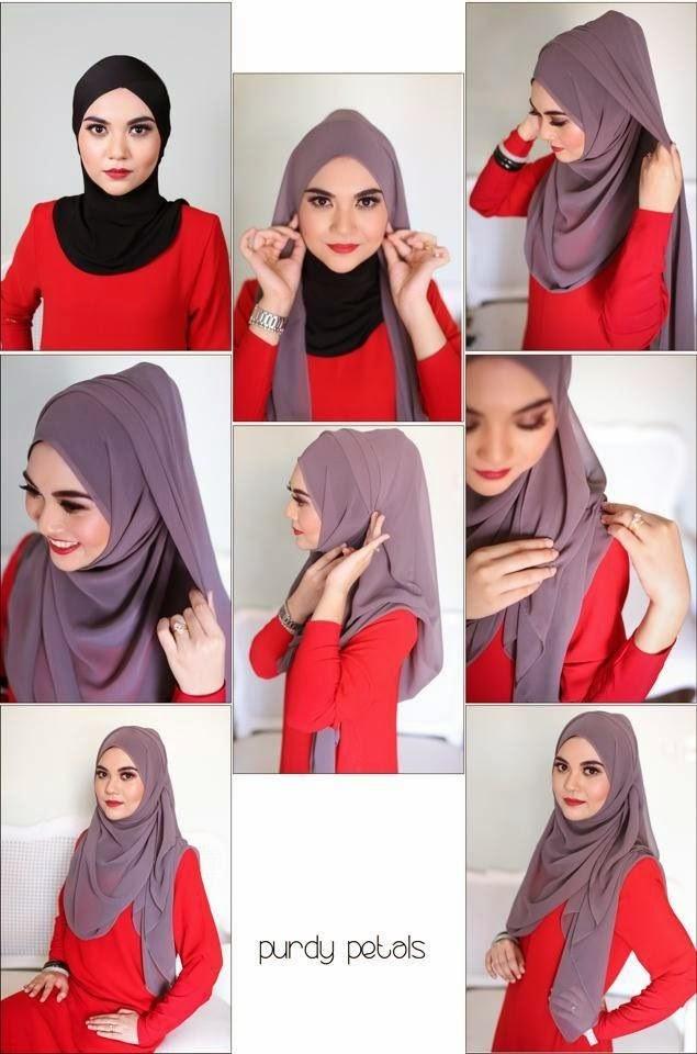 Cara Memakai Jilbab Simple Syar'i