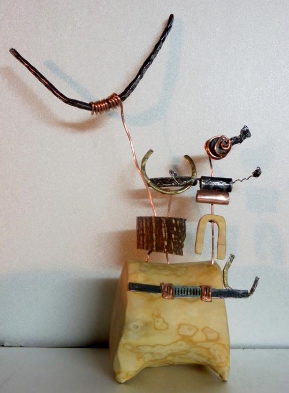 """sculpture """"chef de tribu"""" Vallée des Merveilles"""