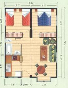 planos de casas modernas para 4 personas