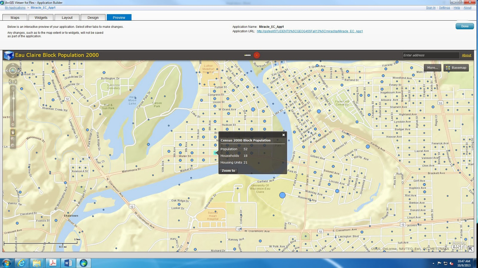 in order to add more functionality and interactivity to the map application widgets can be added arcgis flex viewer provides us with a catalog of widgets