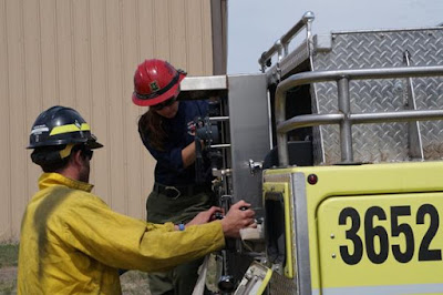 Students get hands-on training with pumping and hydraulics.